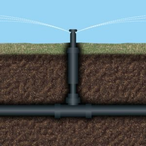 Find subsurface irritation water line detectors
