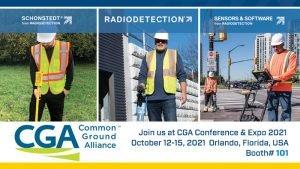 Schonstedt Radiodetection Sensoft at CGA Tradeshow
