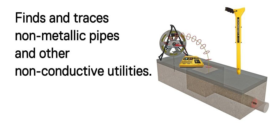FlexiTrade finds and traces non-metallic pipes an other non-conductive utilities.