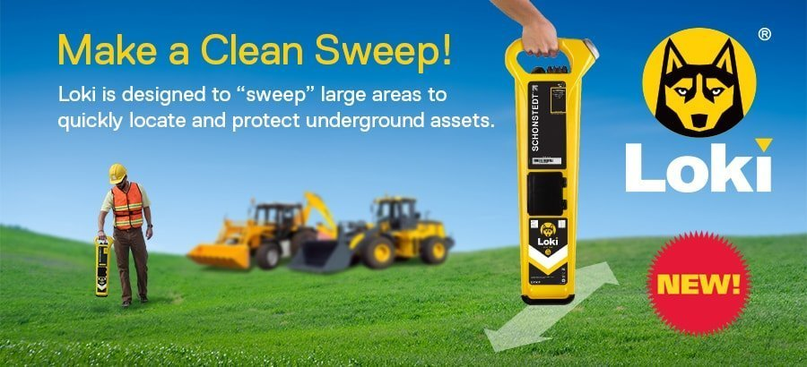 Make a clean sweep - Loke is designed to sweep large areas to quickly locate and protect underground assets.