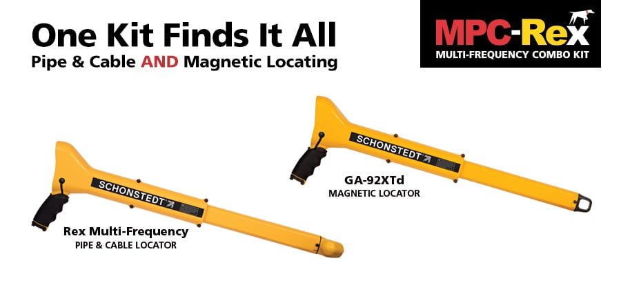 MPC-Rex combo has a GA-92Xt9 and a Rex Pipe and Cable Locator